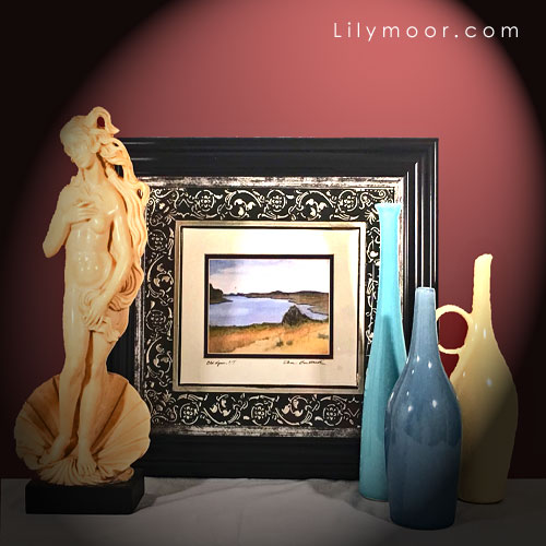 Seascape, Venus, and vases