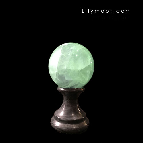 Green sphere for vignette decor