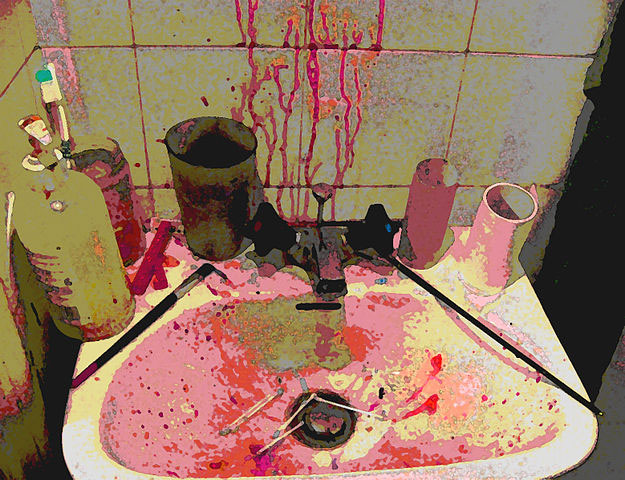 The Curse of the Painter by Danny Hennesy, 2009. Exhuberant messes are meaningful messes.