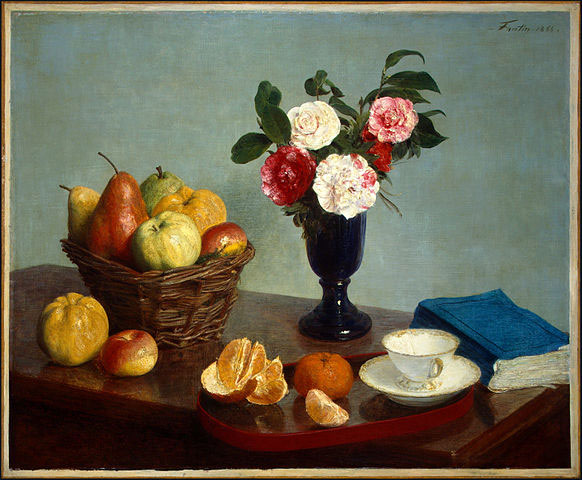 Still Life, Henri Fantin-Latour, 1866. If your mess looks like a still life, it is a meaningful mess.